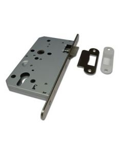 Orbis Mortice Latch CE Radius Forend Satin Stainless Steel