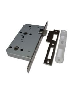 Orbis Mortice Bathroom Lock CE Square Forend Satin Stainless Steel
