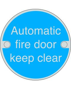 Orbis Automatic Fire Door Keep Clear