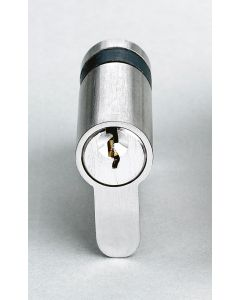 Single Euro Profile Cylinder 45mm Keyed Alike C/W 2 Keys Nickel Plate