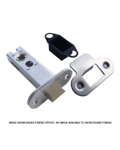 Orbis Tubular Mortice Latch CE 75mm Satin Stainless Steel / Brass