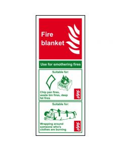 1375.PVC Fire Blanket Sign 75mm x 200mm
