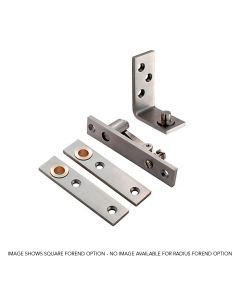 Orbis Double Action Pivot Set Radius End - Satin Stainless Steel