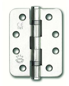 Orbis Ball Bearing Hinge Radius Corners 102x76mm - Satin Stainless Steel