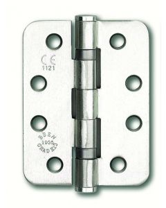 Orbis Twin Ball Bearing Fire Door Hinge - 102 x 76 x 3mm - Satin Stainless Steel - Pack of Three