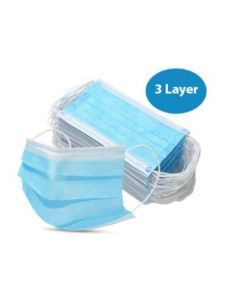 3 Layer Face Masks General Use Only CE Marked (50 Pieces) Blue/White