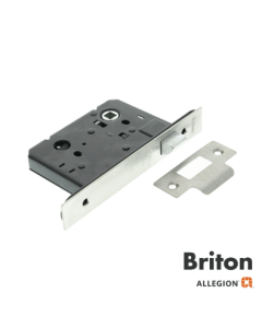 Briton 5240 X Tension Mortice Latch 57mm Backset Grade 304 Satin Stainless Steel Square Forend
