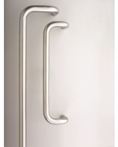 Orbis 600 Cranked Pull Handle Bolt Through 600x19mm Satin Stainless Steel