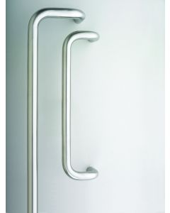 Orbis 600 Cranked Pull Handle Bolt Through 450x19mm Satin Stainless Steel