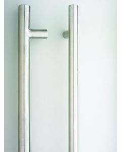 Orbis 600 Entrance Pull Handle Bolt Through 850mm  Satin Stainless Steel