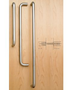 Orbis 800 Pull Handle Back to Back Fix 600x19mm Satin Stainless Steel