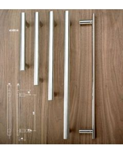 53.922.180.2.DPSC Orbis Premier Pull  Handle Bolt-Fix 180mm Centres Dual Finish Polished Centre Sections / Stainless Steel Ends