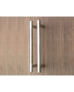 Orbis Premier Pull  Handle Bolt-Fix 450mm CC Dual Finish Polished Centre Sections / Stainless Steel Ends