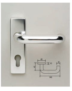 Orbis RTD Lever Latch Furniture 19mm Dia On 150mm x 40mm Plate PAA
