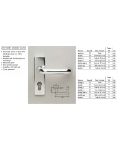 Orbis RTD Lever Latch Furniture 22mm Dia On 150mm x 40mm Plate PAA