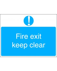 Orbis Fire Exit Keep Clear