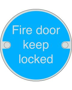 Orbis Fire Door Keep Locked  Sign