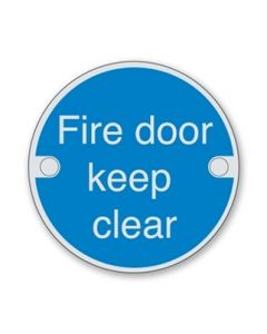 Orbis Fire Door Keep Clear Sign
