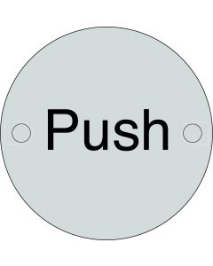 Orbis Push Sign