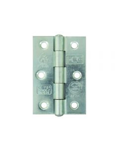i-CE Butt Hinge Square Corners 75x50mm - Bright Zinc Plated