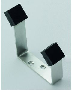 Orbis 600 Buffered Hat and Coat Hook - Satin Stainless Steel