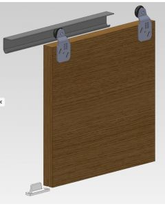 Coburn Twin 60 8T Sliding Door Gear Pack, 2400mm Track for 3 doors, Max Weight 27Kgs, Max Width 1000mm, Max Door Thickness 16mm-40mm Top Hung Fitting