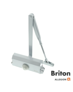 Briton 121.SES Door Closer Template Adjustable Size 2-4 Silver Finish Max Door Weight 80Kgs / Max Door Width 1100mm