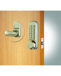 Codelock Mechanical Digital Lock With Latch Satin Chrome Plated