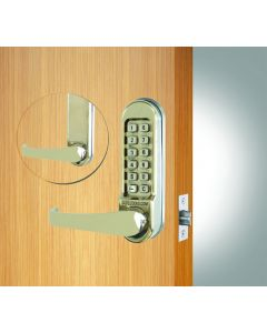 Codelock Front & Backplates With Mortice Latch Satin Stainless Steel