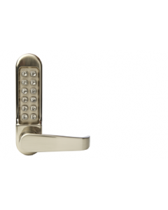 ES500 Satin Stainless Steel Outside Access Digital Lock For Use With Push Bar Push Pad Devices Keypad Side Only Supplied c/w L/H & R/H Spindles