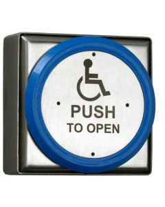 Orbis DDA Disabled Push To Open Stainless Steel Push Plate Button