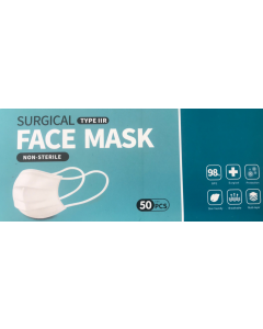 FMD-50 Disposable Face Masks Pack Of 50, Surgical, Non Sterile, Multi-Layered, Breathable