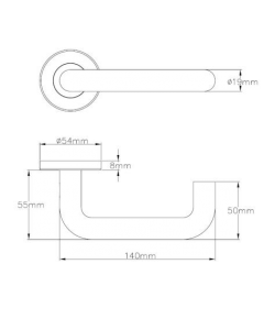 Union 1000RRS01 19mm RTD Lever on Sprung Rose G304 SSS