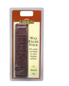 Liberon Wax Filler Stick Dark Mahogany 50g Pre-Packed Quick Drying, Fills Small To Medium Holes, Cracks & Scratches Without Sanding Or Having To Strip The Finish