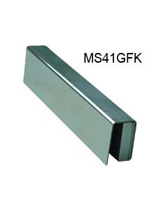 MS41 Glass U Channel & Mounting Plate Stainless Steel