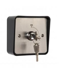 KS.2 Momentary Key Switch Stainless Steel Finish c/w 2 Keys