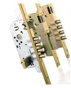 Assa Abloy Tesa TLPN3SLAE Multipoint Lock Gold Enamelled Finish w/o Cylinder 72mm Centre Euro Profile
