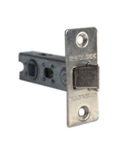 Tubular Mortice Latch 65mm Nickel Plate Finish Fixed Forend c/w Bolt Through Fixings
