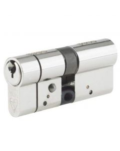 Yale 41148 Anti Snap Double Cylinder 80mm (40/40) Anti Pick, Anti Drill, Anti Bump Satin Nickel Finish